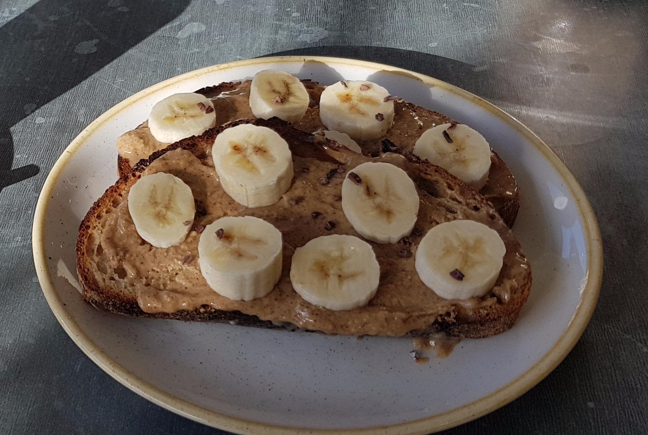 peanut butter banana soughdough rawberry winchester