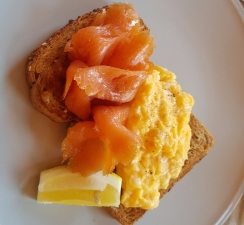 Smoked salmon and scrambled egg Forte Kitchen